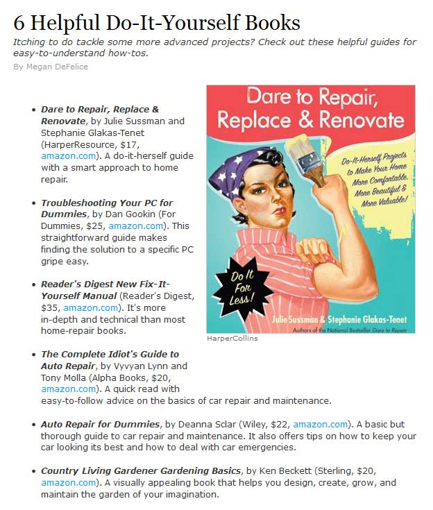 Dare to repair lists page 3 real simple 6 helpful do it yourself books solutioingenieria Image collections